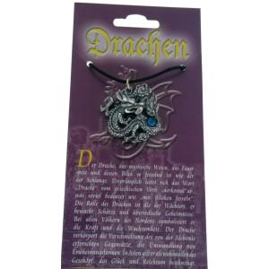 Anhänger mit Drachen Design - mit Swarovski Stein