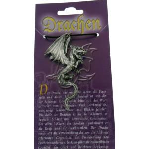 Anhänger mit Drachen Design - springender Drache