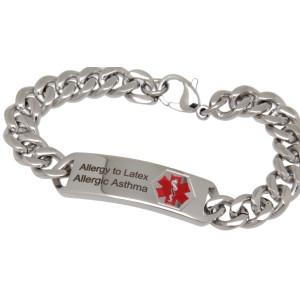 Medi-Armband aus Edelstahl mit individueller Gravur
