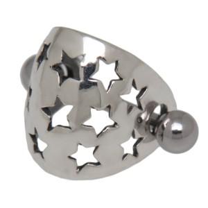 316L Helix Ohrpiercing mit Silberdesign Stern