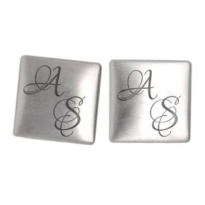 Handgefertigte Manschettenknöpfe mit Ihrer Gravur aus 925 Sterling Silber