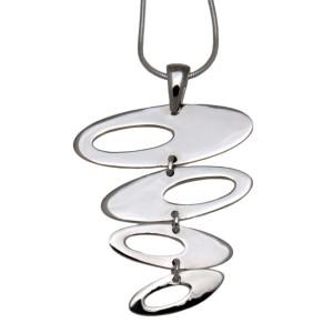 Retro Chic: Schwebende Ovalen aus 925 Silber