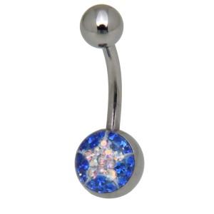 Crystallines Bauchnabel Körperschmuck Piercing, Stern