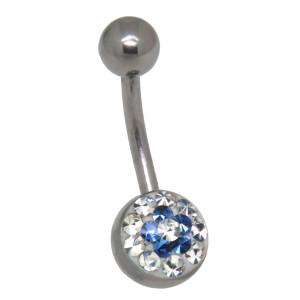 Crystallines Bauchnabel Körperschmuck Piercing