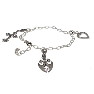 """925 St. Silber Bettel-Armband  """"forever yours"""""""