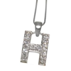 "Silber Buchstaben-Anhänger ""H"""