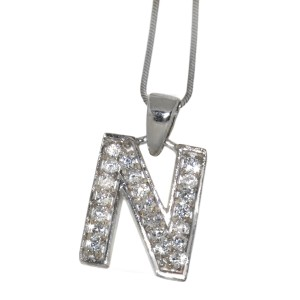 """Silber Buchstaben-Anhänger """"N"""""""