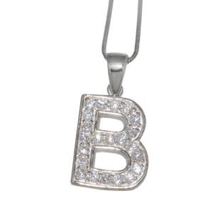 """Silber Buchstaben-Anhänger """"B"""""""