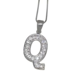 "Silber Buchstaben-Anhänger ""Q"""