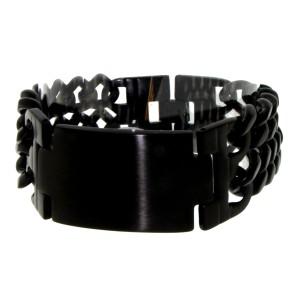 Edelstahl Armband schwarz glänzend für Männer und Frauen