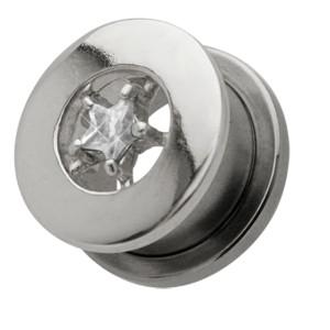 Ohrplug mit kleinem Stern Kristall 12-16mm