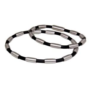 Armband aus Kautschuk und Stahl, 2 Längen
