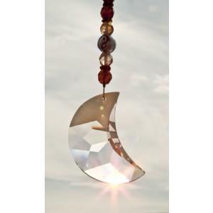Feng Shui Sonnenfänger Mond mit großem Swarovski Kristall