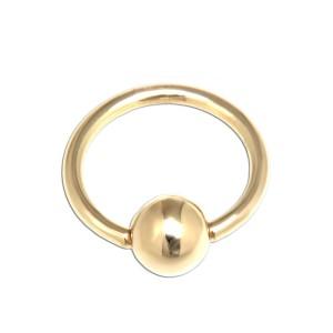 14 Karat Gold BCR 1.0mm Stärke