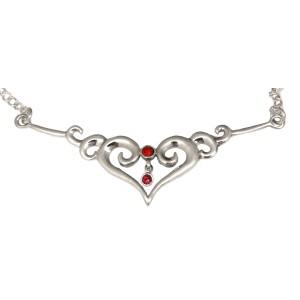 Back Belly Chain Herz aus 925 Sterling Silber