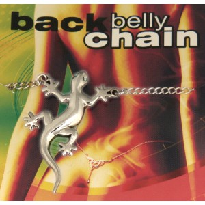 Back Belly Chain Salamander aus 925 Sterling Silber
