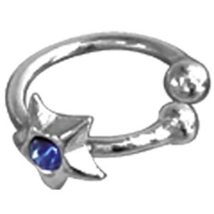 Nasen Clip aus Silber mit Stern und Stein