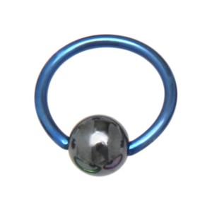 Titan BCR 1.6mm mit Hematit Kugel 1.6x18x6mm, dark blue
