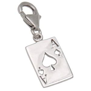 Charm-Anhänger PIK-As aus 925 Sterling Silber