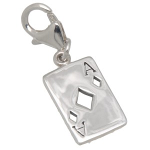 Charm-Anhänger KARO-As aus 925 Sterling Silber
