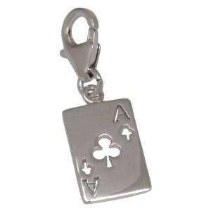 Charm-Anhänger KREUZ-As aus 925 Sterling Silber