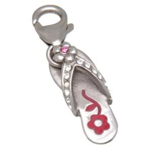 Charm-Anhänger Flip-Flop aus 925 Sterling Silber
