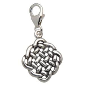 Charm-Anhänger Keltischer-Knoten zum einhängen in ein Bettelarmband