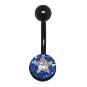 Crystallines Bauchnabel Körperschmuck Piercing STAR