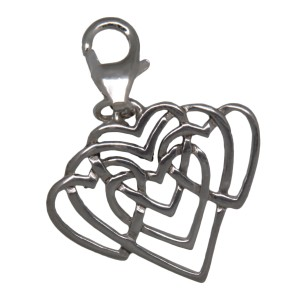 Charm-Anhänger Herzflimmern aus 925 Sterling Silber