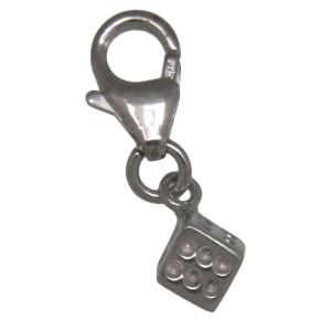 Charm-Anhänger Würfel aus 925 Sterling Silber
