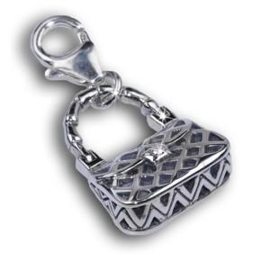 Charm-Anhänger Handtasche aus 925 Sterling Silber