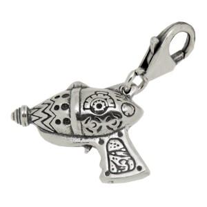 Charm-Anhänger Flash Gordons Waffe aus 925 Sterling Silber