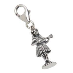 Charm-Anhänger Hula-Tänzerin aus 925 Sterling Silber