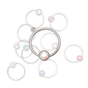 Lippenbändchen-Piercing 0.6mm BCR mit abgeflachter Kugel in verschiedenen Farben und zwei Durchmessern