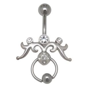 Piercing in Piercing mit Swarovskisteinen