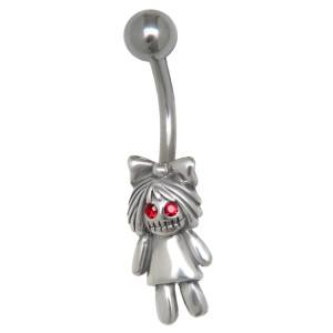 Bauchnabel Piercing ZOMBIE Puppe