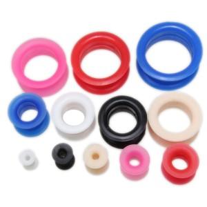 piercingschmuck - Silikon-Tunnel in 6 verschiedenen Farben von 4mm bis 26mm Durchmesser
