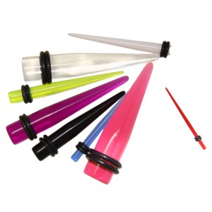 Acryl-Expander in vielen UV-Farben von 1.6mm bis 30mm Stärke