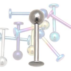 Labret aus Titan 1,6 x 10mm, hoch glänzend