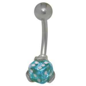 Bauchnabel Piercing mit Würfel Design