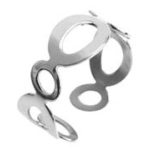Stahlring mit Ovalen und Kreisen
