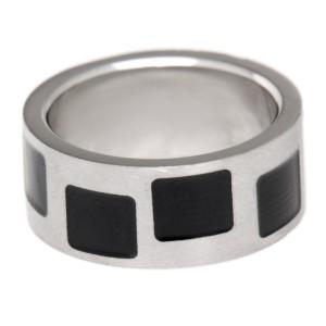 Stahlring schwarzem PVD 283