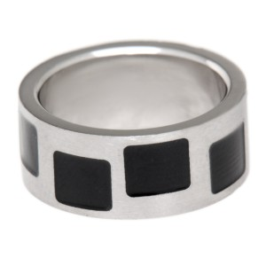 Stahlring schwarzem PVD