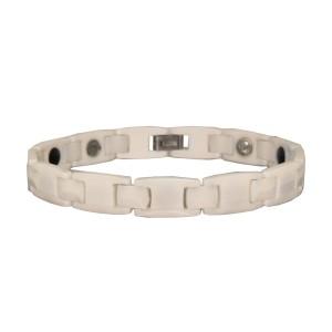 Armband aus Keramik weiss mit Magneten innen