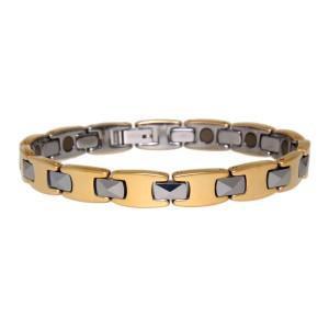 Armband aus Edelstahl mit Tungsten, Magneten innen
