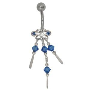 Belly Crystal Beads mit Glassteinen