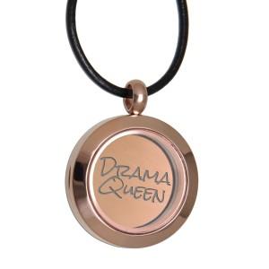 Runder Anhänger aus Edelstahl rosegold mit Ihrer Gravur personalisiert