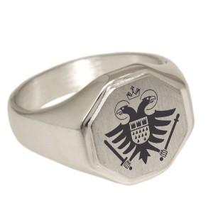 Massiver Siegelring aus 925 Sterling Silber in verschiedenen Größen mit Ihrer Wunschgravur