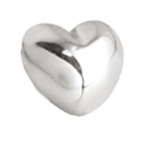 Schraubaufsatz für Labret oder Barbell Hantel Herz gewölbt