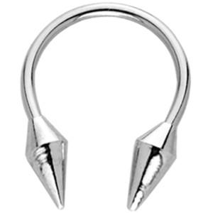 Hufeisen Piercing mit Aufschraubspitzen Diamantenform in 1.6mm